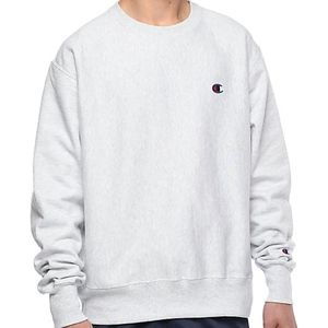 NEW Champion Crew Neck Sweatshirt Fleece silver S